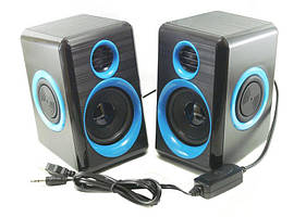 Колонки для ПК компьютера F&T FT-165 синие