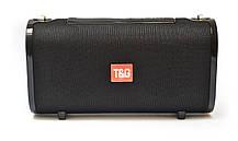 Портативна bluetooth колонка вологостійка T&G 123 Чорна, фото 3