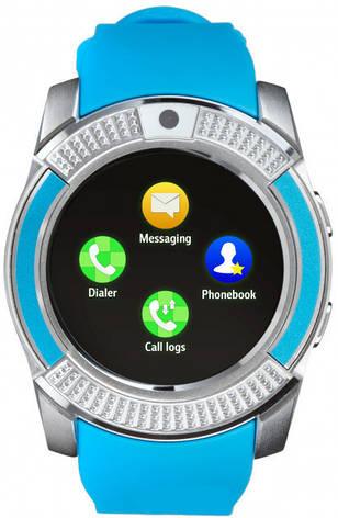 Смарт-годинник Smart Watch V8 Blue, фото 2