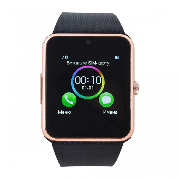Умные часы телефон Smart Watch GT08 Gold