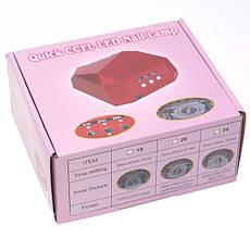 Гібридна CCFL+LED лампа 36W Quick CCFL LED Nail Lamp Чорний, фото 3