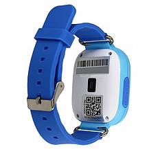 Детские умные часы-телефон с GPS и прослушкой Q100 (Q90) голубой, фото 2