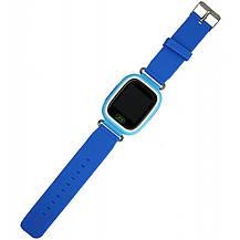 Детские умные часы-телефон с GPS и прослушкой Q100 (Q90) голубой, фото 3