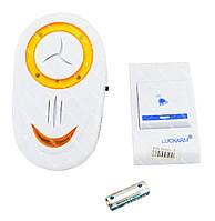 Беспроводной дверной звонок от розетки 220V Luckarm Intelligent A8853 желтый