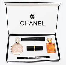 Подарочный набор Chanel парфюм + косметика 5в1 (реплика), фото 3