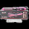 Многофункциональная плойка утюжок для волос 3в1 Gemei GM 2922 розовый, фото 2