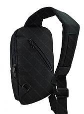 Рюкзак Bobby через плечо c защитой от карманников, с USB зарядным и портом для наушников черный (реплика), фото 3