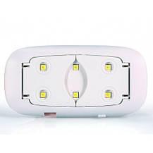 УФ лампа для гель-лаку UV LED SUN mini рожевий, фото 3
