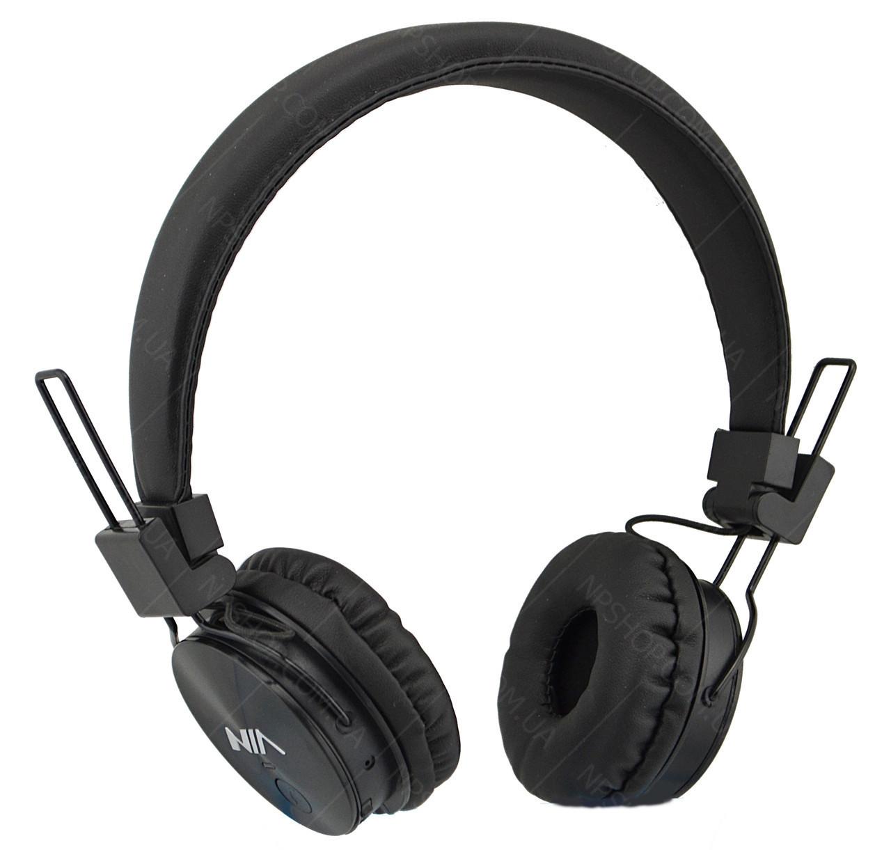 Беспроводные Bluetooth стерео наушники NIA X3 с МР3 и FM Черный