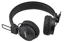 Беспроводные Bluetooth стерео наушники NIA X3 с МР3 и FM Черный, фото 2