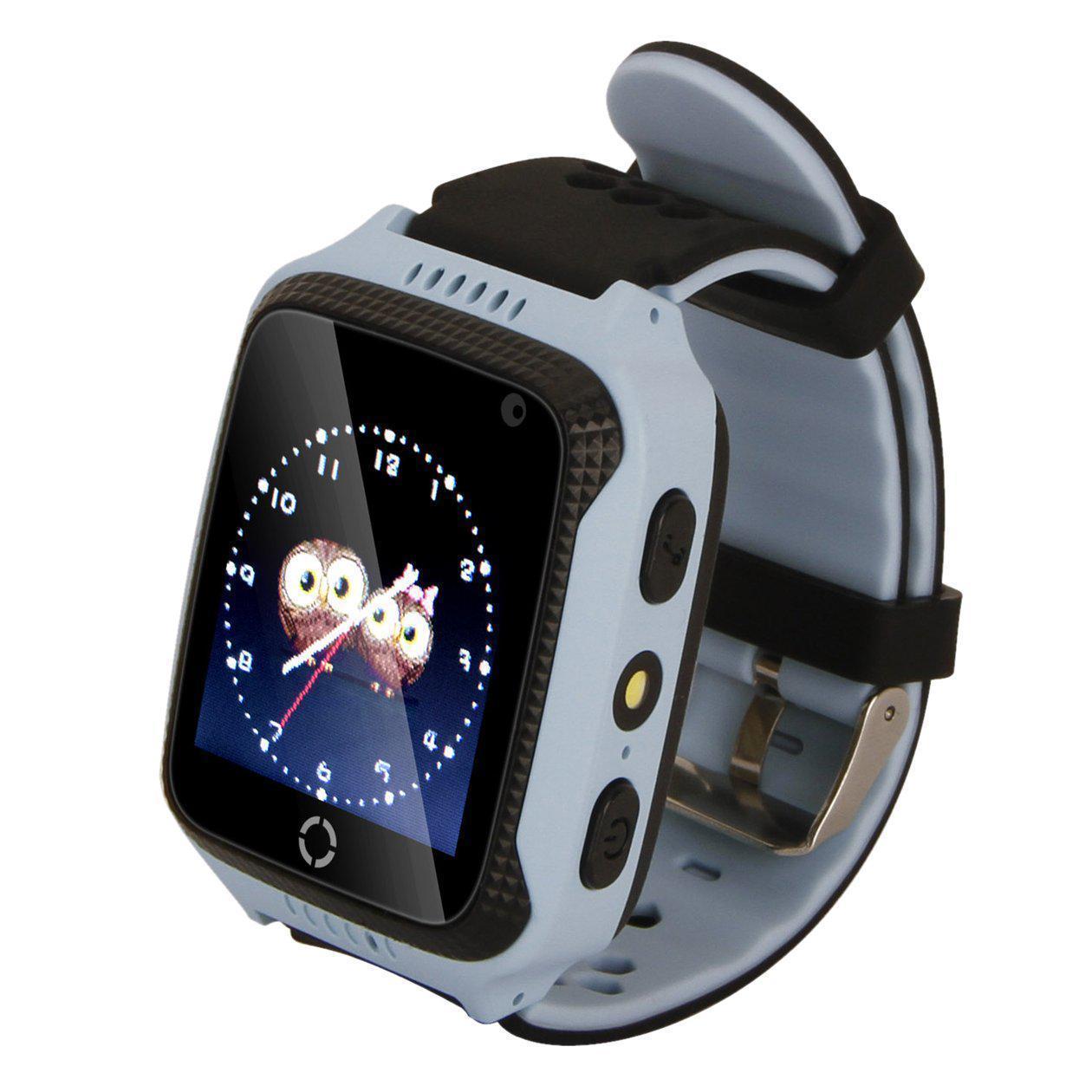 Детские умные часы с GPS UWatch M05 с камерой и фонариком синий