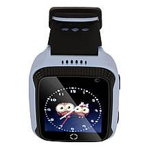 Детские умные часы с GPS UWatch M05 с камерой и фонариком синий, фото 2