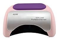 Гибридная УФ CCFL+LED лампа для ногтей Beauty Nail 48W K18 бежево-розовый