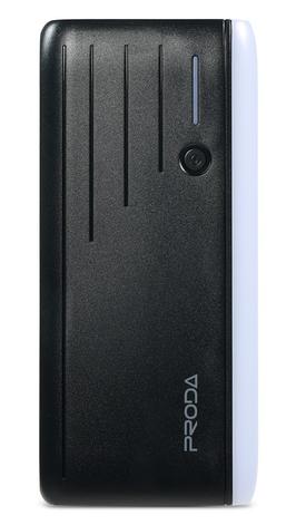 Внешнее зарядное устройство Power Bank Proda PPL-19 12000 mah с полицейской мигалкой, фото 2