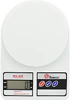 Електронні кухонні ваги Domotec MS 400 з LCD-дисплеєм на 10 кг + Батарейки