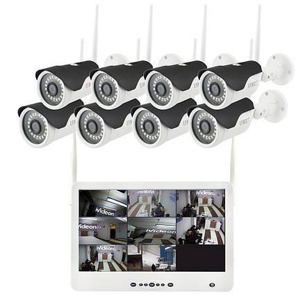 "Комплект видеонаблюдения беспроводной DVR KIT Full HD UKC CAD-1308 LCD 13.3"" WiFi 8ch набор на 8 камеры, фото 2"