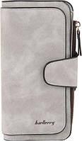 Женский кошелек клатч портмоне Baellerry Forever N2345 светло-серый