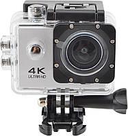 Водонепроницаемая спортивная экшн камера Delta H16-6 4K Wi Fi Silver
