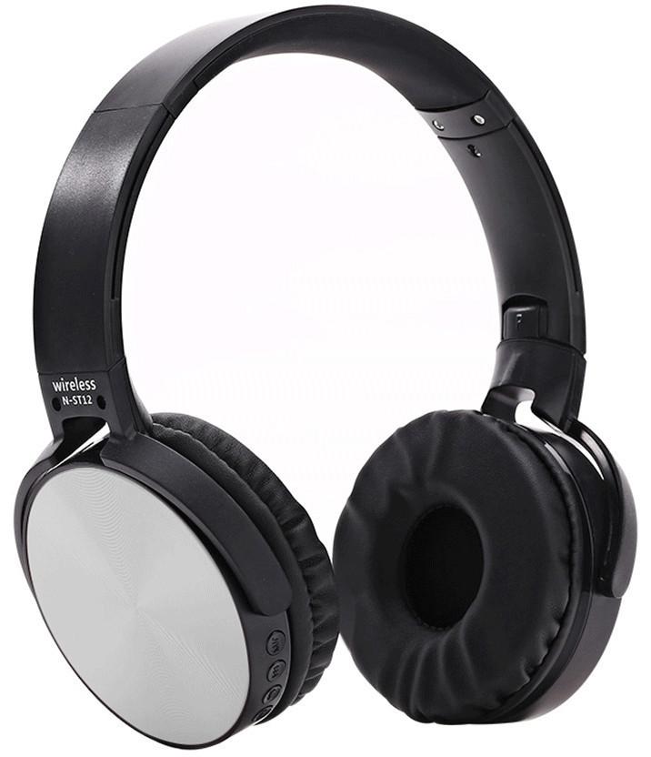 Бездротові навушники bluetooth UKC ST12 microSD Silver