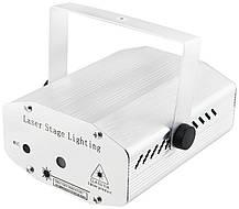 Лазерный проектор, стробоскоп, диско лазер UKC HJ09 2 в 1 c триногой Silver, фото 2