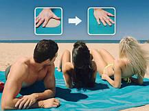 Пляжний килимок підстилка антипесок Sand-free Mat Блакитний, фото 2