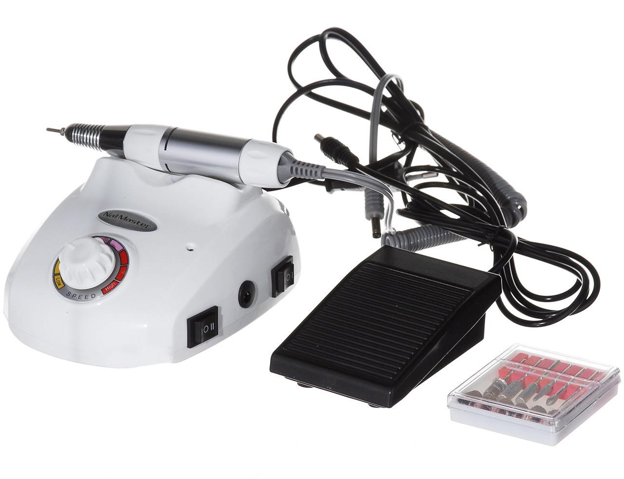 Профессиональный фрезер Beauty Nail Master DM-208 Glazing Machine 00073 для маникюра педикюра 30W белый