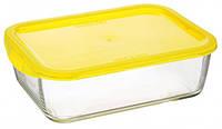 Пищевой контейнер Keep'N' прямоугольный с крышкой желтый 1970 мл (SD444)