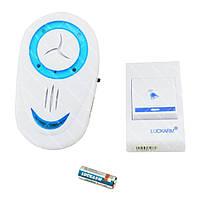 Беспроводной дверной звонок от розетки 220V Luckarm Intelligent A8853 синий