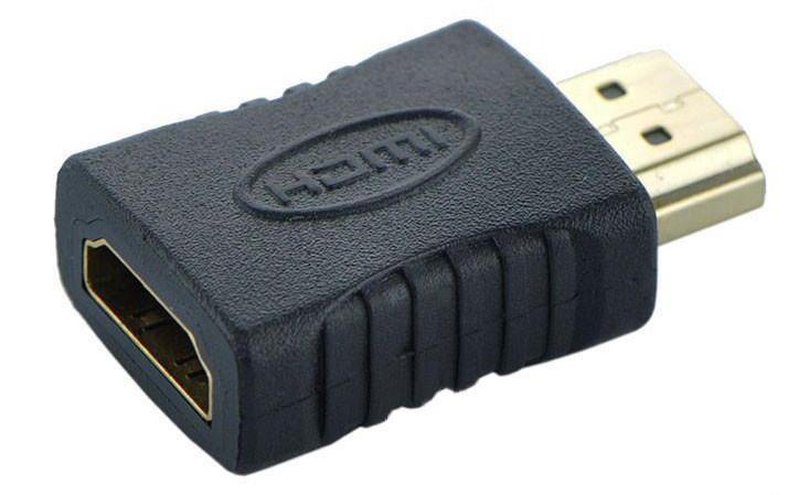 HDMI M (male) to HDMI F (female) з'єднувач перехідник адаптер прямий (для з'єднання / подовження HDMI