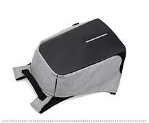 """Рюкзак Bobby c защитой от карманников и с USB зарядным устройством 15"""" серый (реплика), фото 3"""