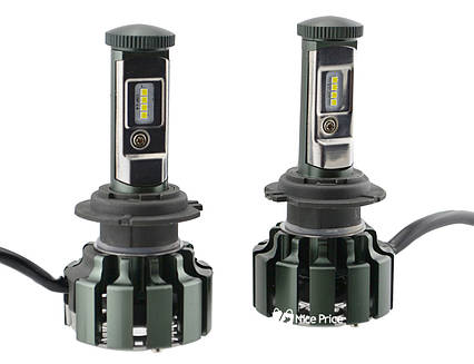 Светодиодные автомобильные лампы Turbo Led T6 H7 35W 3500LM 6000K, фото 2