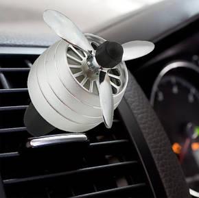 Автомобильный ароматизатор CFK-03-A пропеллер на дефлектор Silver, фото 2