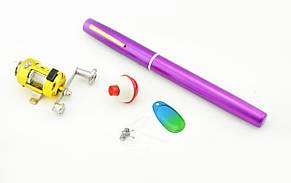 Складная походная мини-удочка + катушка, ручка Purple