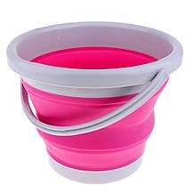 Ведро складное (круглое) Folding Bucket 5 л (микс), фото 2