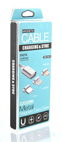 Магнитный кабель для Android Magnetic micro USB DM-M15 Black, фото 2
