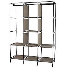 Складаний тканинний шафа, шафа для одягу Storage Wardrobe 88130 на 3 секції Brown, фото 3