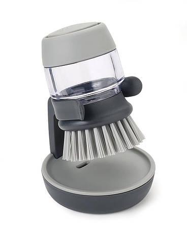 Щітка для миття посуду з дозатором JOSEPB JOSEPB Palm Crub Сірий, фото 2