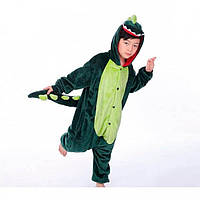 ✅ Детская пижама Кигуруми Динозавр зеленый (дракон, крокодил) 130 (на рост 128-138см)