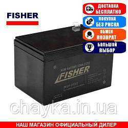AGM аккумулятор Fisher 12a/h (Тяговый аккумулятор Фишер);