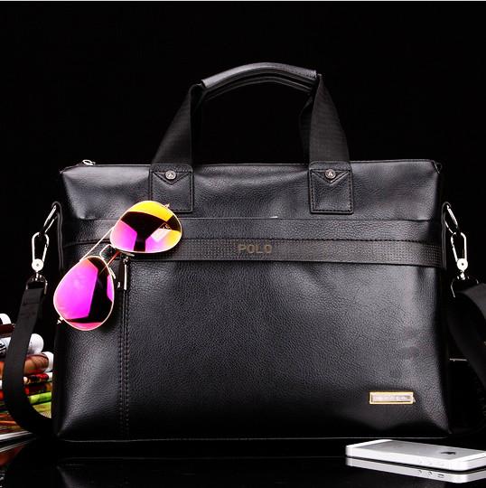 Мужская кожаная сумка-портфель Polo.
