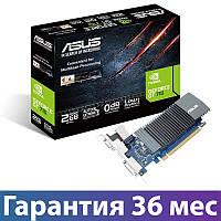 Видеокарта GeForce GT710, Asus, 2 Гб DDR5, 64-bit (GT710-SL-2GD5-BRK), низкопрофильная, відеокарта