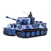 Танк микро р/у 1:72 Tiger со звуком (хаки синий), фото 1