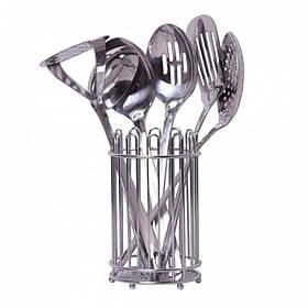Набор кухонных принадлежностей Kamille в  подставке 6 предметов KM-5232