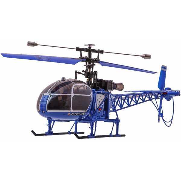Вертолёт 4-к большой на радиоуправлении WL Toys V915 Lama (синий)
