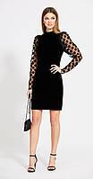 Сукня EOLA-1783 білоруський трикотаж, чорний, 44, фото 1