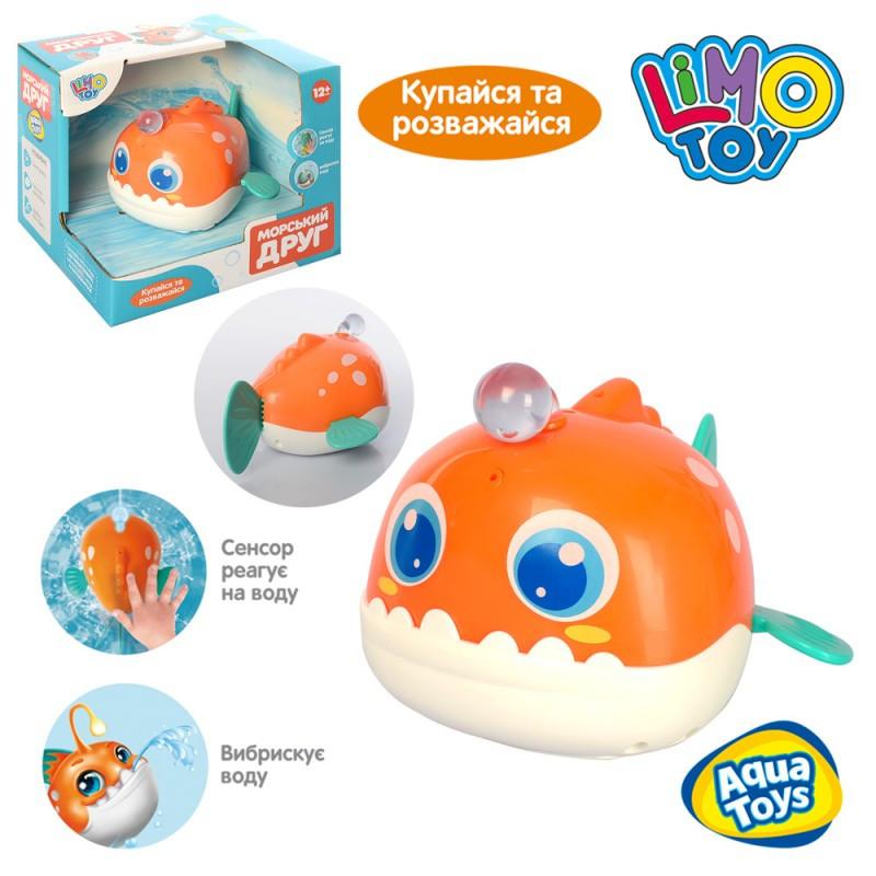 Рыбка - игрушка для купания со световым эффектом. 8103