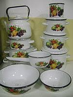 Набор посуды эмаль 6 кастрюль с чайником 3.5л, кружка 1л, ковш 1.5л, миски 1.5 и 4л Витамин epos №28