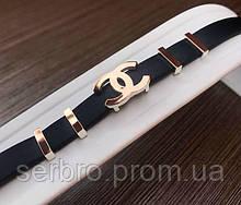 Каучуковый браслет серебро с позолотой Шанель