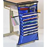Настольный органайзер для учебных книг и тетрадей. Синий, Органайзеры для дома и путешествий, фото 5