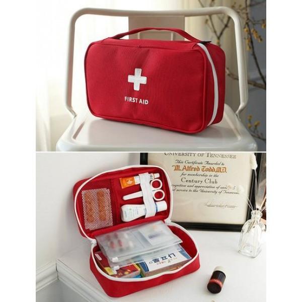 Аптечка органайзер в дорогу большая. Красная, Органайзеры для дома и путешествий
